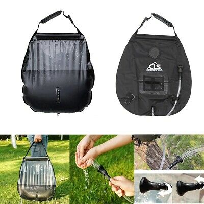 Portable 20L Wild Water Bag Solar Heated Shower Camping Outdoor Bathing Bag New