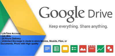 Unlimited Google Drive Lifetime Cloud Storage Account Single Payment 100% work