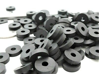 """#6 Thick Rubber Washers -1/8"""" ID X 3/8"""" OD X 3/32"""" Thick - Various Pack Sizes"""