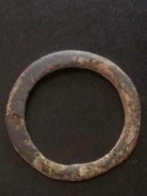 24mm Authentic Ancient CELTIC Bronze Ring Money Sandy Patina ~600 BC #25
