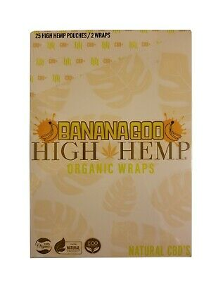 High Hemp Organic Wrap 25 Pouch in Box 2 in a Pouch 50 Wraps NEW Bananagoo