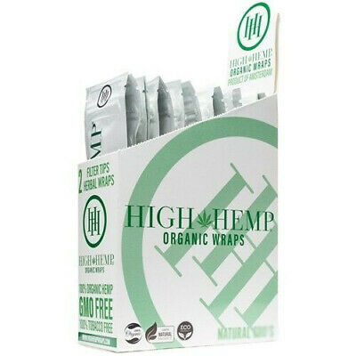 High Hemp Organic Wrap 25 Pouch in Box 2 in a Pouch 50 Wraps NEW Original