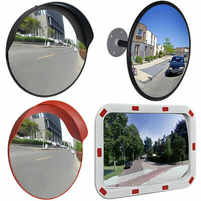 Outdoor Curved Wide Angle Convex Mirror Road Traffic Driveway Safety 30/60cm