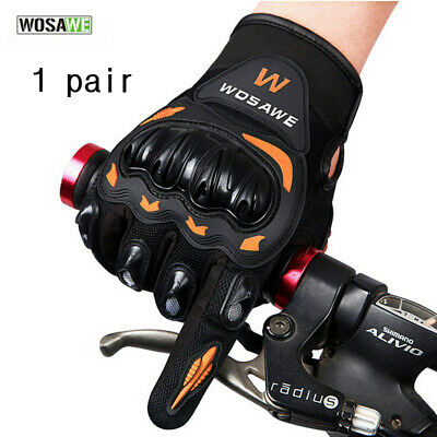 Tactical Cycling Motorcycle Combat Hard Knuckle Full Finger Gloves Anti-slip USA