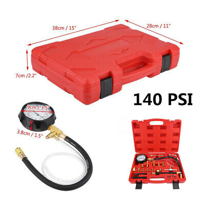 "140PSI Petrol Diesel Fuel Injection Pump Pressure Tester Gauge Kit 15""x11""x2.2"""