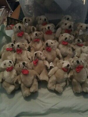 6 X 5 inch soft teddy bears with movable arms CHRISTMAS STOCKING, PARTY BAGS,