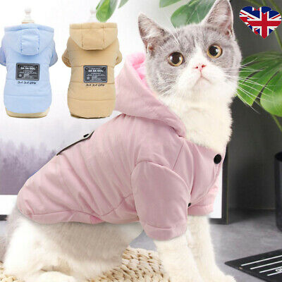 Pet Dog Soft Warm Clothes Winter Cat Puppy Chihuahua Fleece Hoodie Jackets Coats