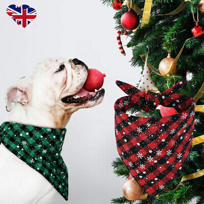 Christmas Pet Dog Neck Neckerchief Bandana Costume Puppy Cat Puppy Scarf Bib UK