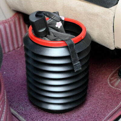 Car Litter Bin Foldable Rubbish Can Collapsible Waste Basket for Camping 4L