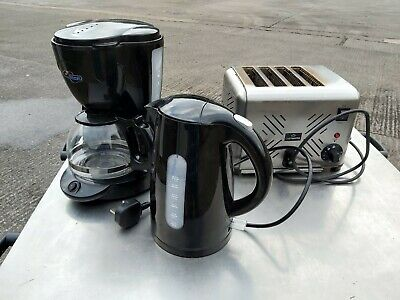 Job Lot Commercial 4 Slot Toaster, Kettle Coffee Percolator