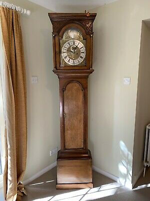 Thomas Grace London 8 Day Oak Longcase Clock - Circa 1730 - Grandfather Clock