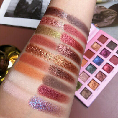 Eye Shadow Pigment Palette Matte Pearlescent Glitter 18 Colors Shimmer Make up