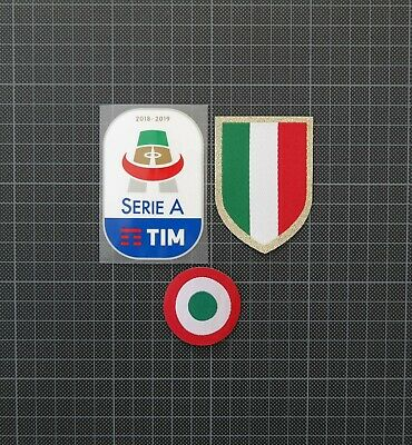 Serie A Patch 2018-2019 , Scudetto & Coppa Italia Sleeve Patches/Badges Juventus