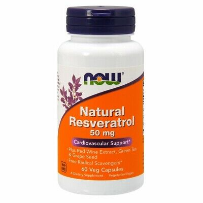 Natural Resveratrol 60 Vcaps by Now Foods