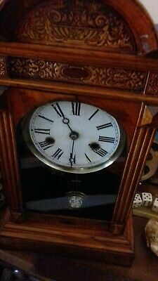 Antique Wall Clock Used.has worked needs checking overAnd service