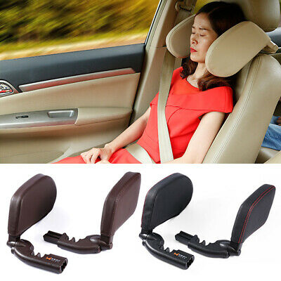 Travel Car Seat Headrest Pad Memory Foam Pillow Head Neck Rest Support Cushion
