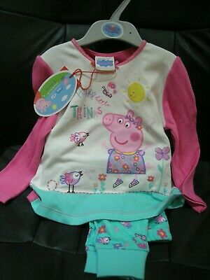 MINI CLUB GIRLS PEPPA PIG PYJAMAS 12-18 MONTHS 1-1.5 YEARS 80-86cm - BNWT