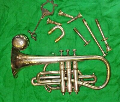 Early 20th Cent. Hawkes & son silver plated Cornet