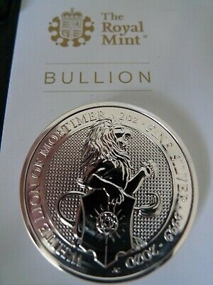 2020 UK Queen's beast White Lion 2 Troy oz 9999 pure Silver Coin UK Royal Mint