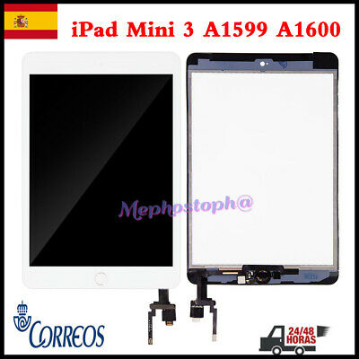 Pantalla Para iPad Mini 3 A1599 Tactil Digitalizador Screen+Botón+IC Chip Blanco
