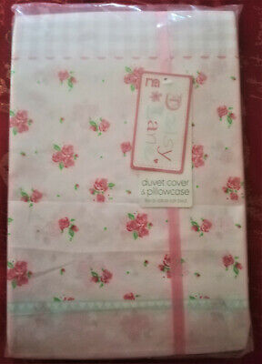 Mothercare Daisy Lane Duvet Covet & Pillowcase for a Cot or Cot bed Girls