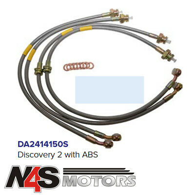 Land Rover Discovery 1 95-0n Standard Stainless Braided Brake Hose Kit DA2412S