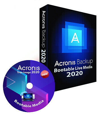 Acronis True Image 2020 Bootable CD Backup Restore Migrate to another Drive SSD