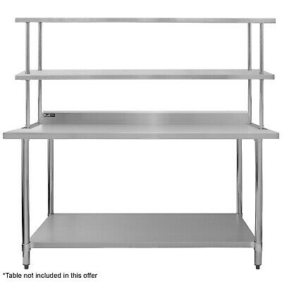 Commercial Kitchen Prep Shelf Stainless Steel Double Overshelf Catering 1800mm