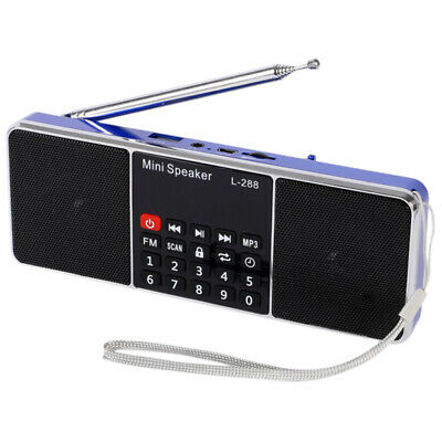 Mini Portable Rechargeable Stereo L-288 FM Radio Speaker LCD Screen Support Q8M8