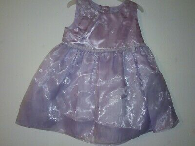 Ex store Baby Girls Lilac Party Dress 3-6 Months
