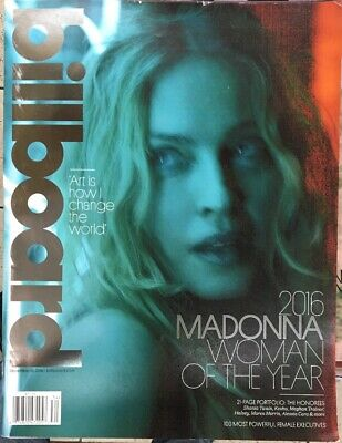 BILLBOARD Magazine-2016 MADONNA WOMAN OF THE YEAR-December 10, 2016
