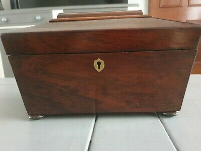 19th Century antique Victorian Regency flame mahogany Sarcophagus Tea Caddy