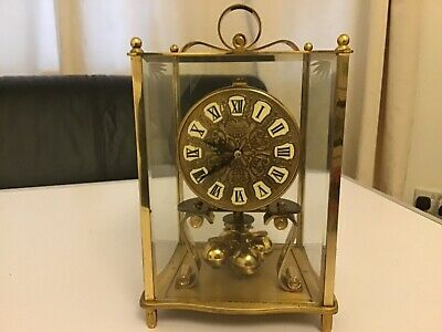Antique Kieninger & Obergfell kundo clock in square glass housing with key