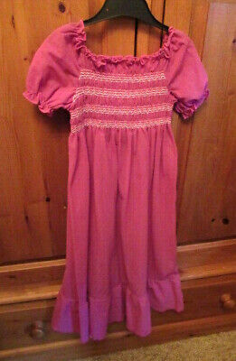 Vintage Nightdress Girls Purple 4 - 5 Years 110 Cm Child's Nightwear