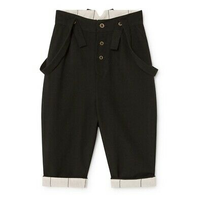 Little Creative Factory Smart Suspenders Black Trousers Baby Boy Holiday Pants 2