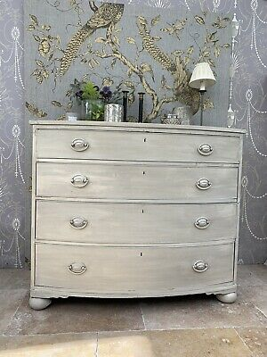 Huge Antique Regency Chest Of Four Graduated Drawers