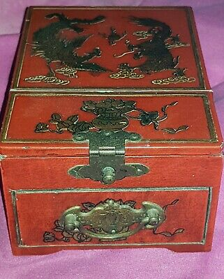 Antique Chinese Lacquered Jewellery Box