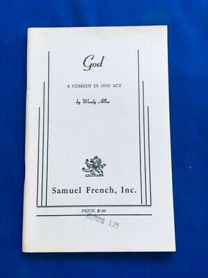 God. A Comedy In One Act - First Edition By Woody Allen