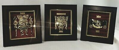 The treasure of the Incas Moche bathed in 24 karat Gold set of 3