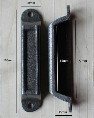 CAST IRON RIM LOCK DOOR KEEP 105mm ~ BRITISH MADE VICTORIAN RIMLOCK KEEPS ~ KP06