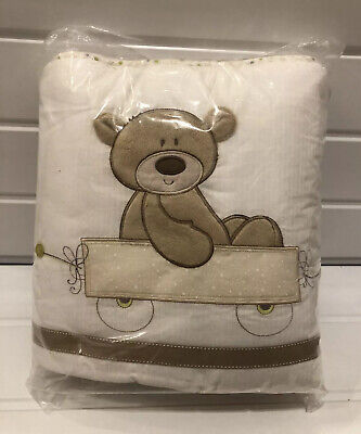 """Mothercare """"Loved So Much"""" Cot Bumper Unused Cream Unisex"""