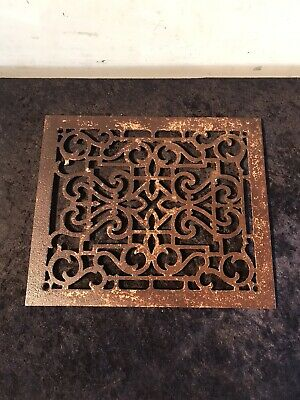 Antique Cast Iron Victorian Floor Grate Architectural Salvage