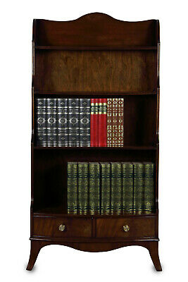 Mahogany 'Waterfall' Open Bookcase