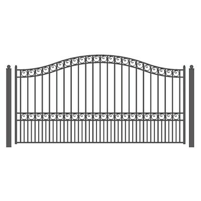 ALEKO Paris Style Ornamental Iron Wrought Single Swing 16' Driveway Gate