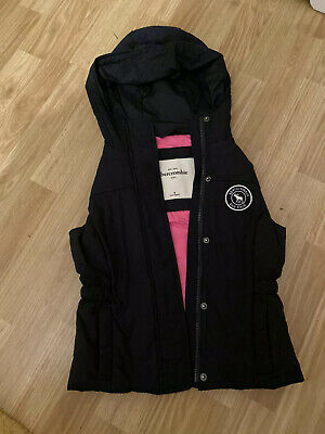 Girls Black Abercrombie & Fitch Gillet - Medium