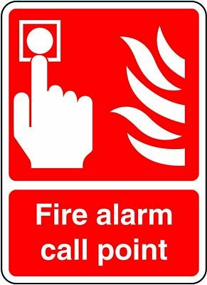 Fire Alarm Call Point Sticker Safety Sign Red 210 x 148mm Oblong A5