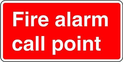 Fire Alarm Call Point Sticker Safety Sign Red 148 x 210mm Oblong A5