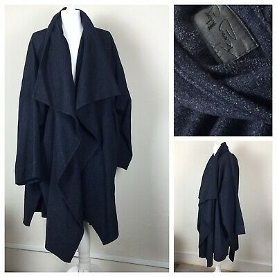 """PLUS SIZE WOMEN OVERSIZED COTTON BALLOON LONG JACKET**BLUE**BUST UP TO 52/"""" ITALY"""