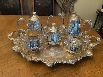 Superb Marked Spanish  Sterling Silver 925 Tea & Coffee Set.