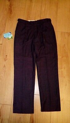 New School Older Boys John Lewis Charcoal Wool Mix Tailored Trousers Age 14 Yrs
